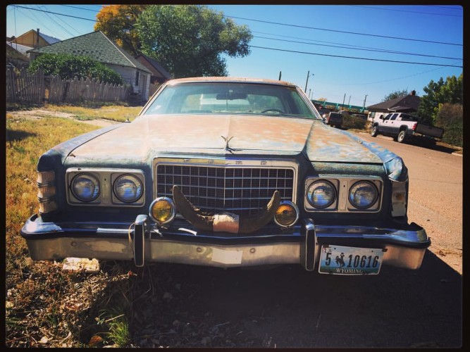Lots of interesting sights around Laramie, WY. Eliana captured this fancy car during our day of b-roll. ©